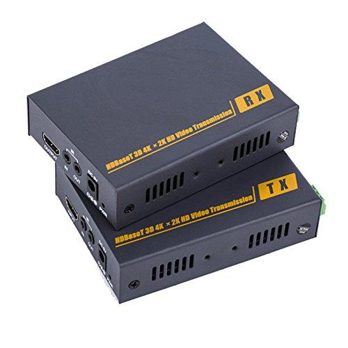 E-Link 4K KVM HDMI KVM HDBaseT Extender über Cat5/6Kit, überträgt HDMI-Signale bis zu 100m über einem CAT6Kabel, unterstützt Video Auflösung bis zu 1920* 1080P @ 60Hz und 4Kx2K Cat5/6 Kvm-extender-kit