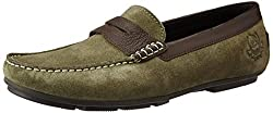 U.S. Polo Assn. Mens Olive (01) Leather Loafers and Moccasins - 7 UK/India (41 EU)