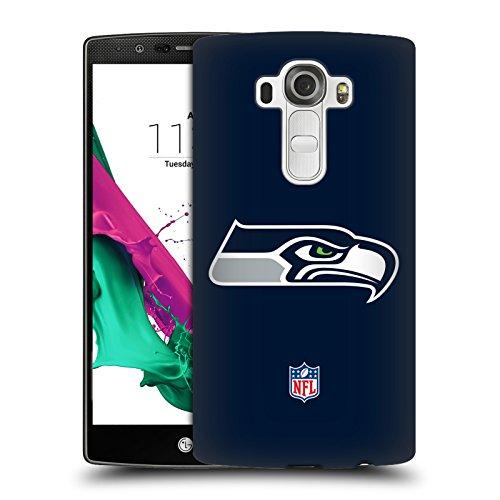 Offizielle NFL Einfarbig Seattle Seahawks Logo Ruckseite Hülle für LG G4 / H815 / H810