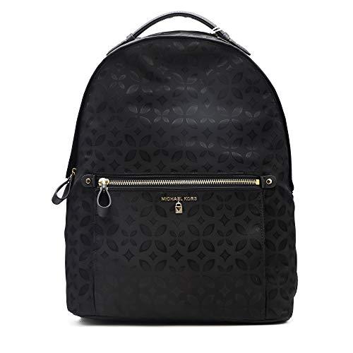 Michael Kors - Kelsey Large Nylon Backpack, Bolsos mochila Mujer, Negro (Black), 11.4x38.1x33 cm (B x H T)