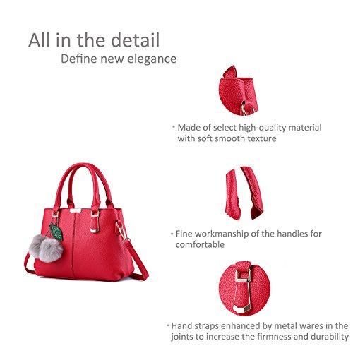 Ruiren Multifunktions Travel Shopping Soft Tasche Portable Schultertasche Frauen Messenger Bags Frauen Handtasche Schultertasche Burgund