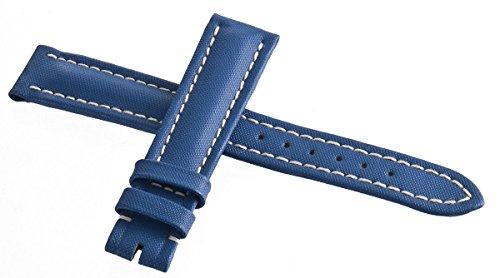 Breitling Damen Uhrenarmband Leder blau helle Naht 16mm x 14mm