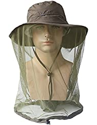 Zhhlinyuan Summer Sunscreen Fishing Hats Adult Unisex Outdoor Anti-mosquito Hat