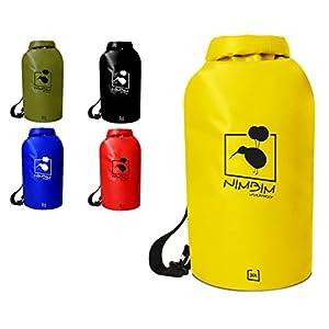 NIMBIM Dry Bag/wasserdichter Packsack in 20/30 Liter verstellbare Gurte, Stabiler Boden, Metallclips, faltbar – Wasserfeste Trockentasche/Seesack – Ideal für Kajak, Kanu, Segeln, Schwimmen, Boot