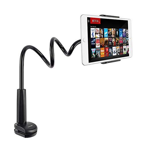 Tryone Schwanenhals Tablet Halterung, Tablet Halter – Flexible Arm Ständer für Ipad/Handy/Switch/Samsung Galaxy Tabs/Kindle Fire HD usw, 30 Zoll Gesamtlänge (Schwarz)