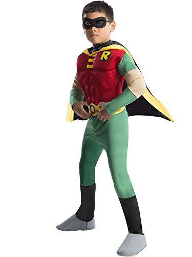 Kostüm für Kinder, Größe:S (Robin Und Batman-halloween-kostüme)