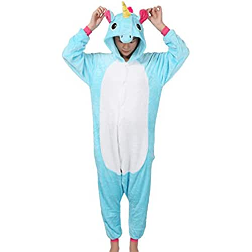 Unicorn Pijamas Disfraz Adulto Kigurumi Unisex Adulto Cosplay Animales Trajes Carnaval Pijamas Ropa-Très Chic Mailanda