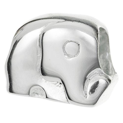 BRIGHT 925Sterling Silber Zoo Elefant Perle für europäische Charm-Armbänder (Zoo College)