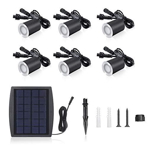6 STÜCKE Solarleuchte Garten Solar Deck Lichter Solarleuchte Garten Sensing Garden Paths U-Lampe für Garten,Zaun, Garage, Auffahrt, Pfad, Innenhof und Balkon -