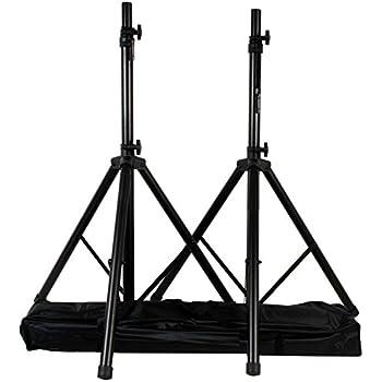 vidaXL Stativi per casse con tubi in acciaio pesante altezza regolabile 2 pezzi