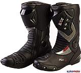 BOLT S12 Deportes Proteccion Motocicleta Carreras Deslizador Impermeable Negro Botas (42 EU/8 UK)