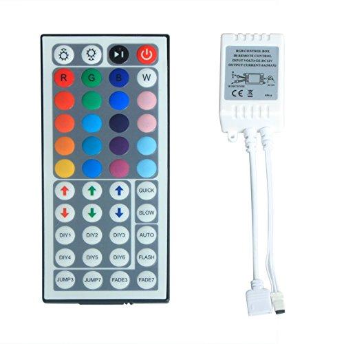 ALED LIGHT® Dimmer Controlloer di Luce Striscia LED RGB + Telecomando 44 Tasti