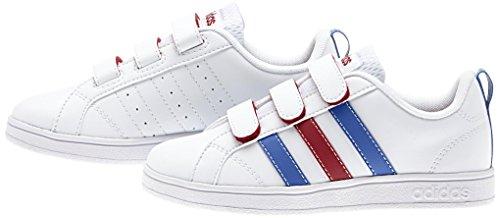adidas - Vs Advantage Cmf C, Scarpe sportive Unisex – Bimbi 0-24 Multicolore (Blanco / Azul / Rojo (Ftwbla / Azul / Rojpot))