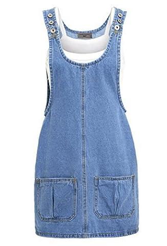 SS7 Nouvelles Femmes Jeans Robe Chasuble, Bleu, Tailles 34 pour 16 - Femmes, Bleu jean, 40