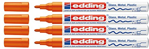 Edding 751 Lackmarker M Spitze (4er Pack, orange)