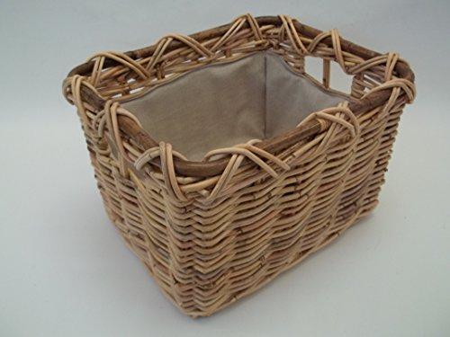 Kaminkorb, Holzkorb, Erntekorb, Kartoffelkorb aus Rattan