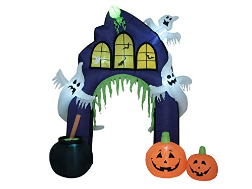 showking Halloween Portal Libero, Geister, Kürbisse, selbstaufblasend, LEDs, 270cm