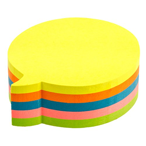 Kores Fantasy Sticky Notes Bubble Shaped, 5 Neon Colours, 70 x 70 mm, 250 sheets