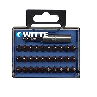 Witte bitcas-Pack von 30Bits Schraubendreher PH + Bithalter magnetisch in Kunststoff-Box