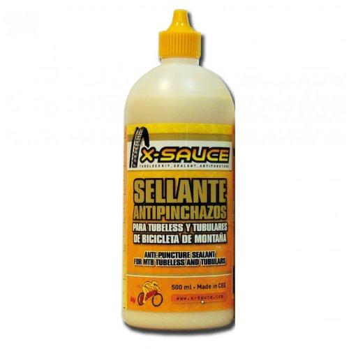 X-Sauce Sellante Antipinchazos para tubeless y tubulares de bicicleta de montaña 500ml