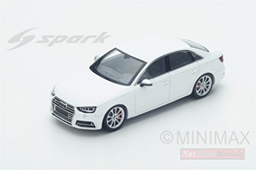 SPARK MODEL S4887 AUDI S4 2016 WHITE 1:43 MODELLINO DIE CAST MODEL (Audi S4 Spielzeug Auto)