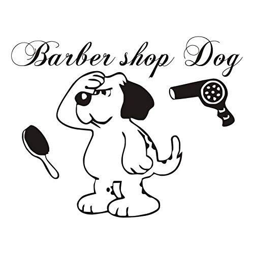 Lustige Pflege Shop Kunst Wandtattoos Hund Vinyl Wall Decor Aufkleber Für die Pflege Hund Salon Dekoration 56 * 59 cm