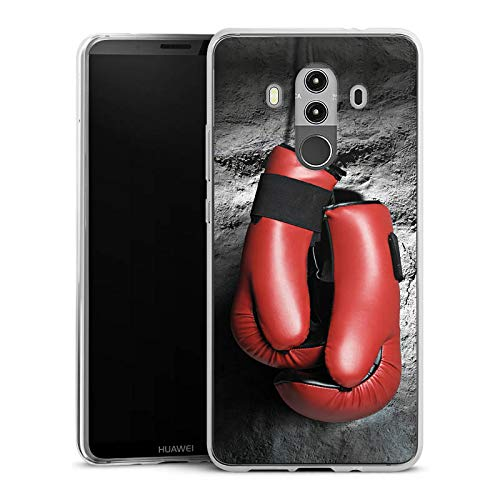DeinDesign Slim Case kompatibel mit Huawei Mate 10 Pro Silikon Hülle Ultra Dünn Schutzhülle Boxen Boxhandschuhe Fight