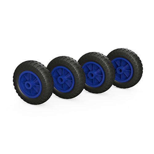 PU Rad Ø 160 mm Gleitlager Kompressor Rad Ersatzrad (schwarz/blau) (4)