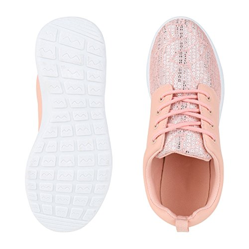 Flache Unisex Damen Herren Laufschuhe Profilsohle Sportschuhe Schnüren Sneakers Freizeitschuhe Rosa