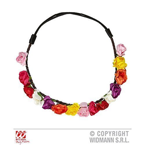 Blumenhaarband / Stirnband / Haarschmuck / Kostümzubehör Hippie 60er / 60 er mit bunten (Kostüm Blumenmädchen Hippie)