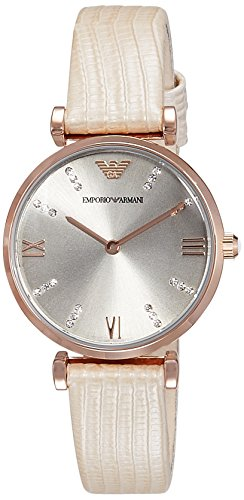 Emporio Armani Women's AR1681 Classic Analog Display Analog Quartz Beige Watch