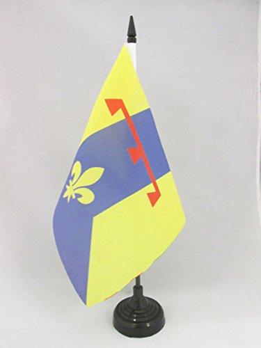 TISCHFLAGGE DÉPARTEMENT BOUCHES DU RHÔNE 21x14cm - BOUCHES DU RHÔNE TISCHFAHNE 14 x 21 cm - flaggen AZ FLAG
