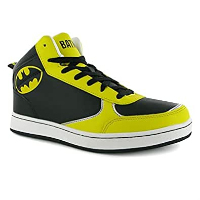 dc comics batman herren turnschuhe high top sneaker freizeit ankle schuhe schuhe. Black Bedroom Furniture Sets. Home Design Ideas