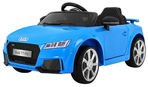 Elektro Kinderauto Elektrisch Ride On Kinderfahrzeug Elektroauto Fernbedienung - original lizenziert von - Quatro TT RS 2.4 GHz - Blau