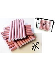 Papilotten - Flex-Wickler Set 30 Stck. + Kosmetiktasche - 14 mm hell-pink