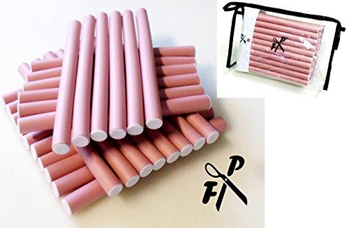 Papilotten - Flex-Wickler Set 30 Stck. + Kosmetiktasche - 14 mm hell-pink (von deutschem Friseurbedarf-Fachhändler!)