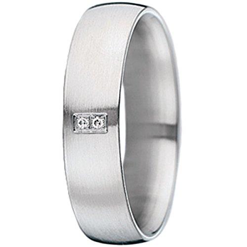Xen Damen-Ring Edelstahl Diamant weiß Gr.56 (17.8) 011329G56