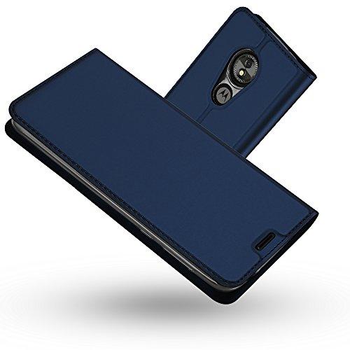 Radoo Moto E5 Hülle,Moto G6 Play Hülle, Premium PU Leder Handyhülle Brieftasche-Stil Magnetisch Folio Flip Klapphülle Etui Brieftasche Hülle Case Cover für Motorola Moto E5/Moto G6 Play (Blau)