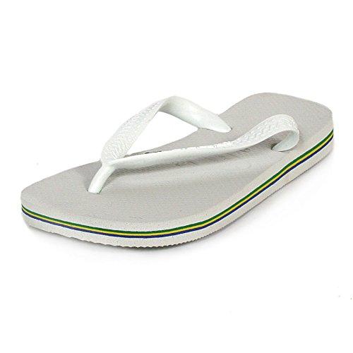 Havaianas Brasil Unisex-Erwachsene Zehentrenner Weiß (Brasil White)