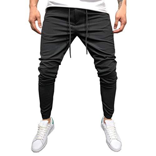 Rawdah_Pantalones Hombre Hombre Casual Sportwear Baggy Jogger Pants Slacks hasta El Tobillo Pantalones De CháNdal Pantalones De Hombre