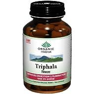 Organic India Triphala (Amalaki Haritaki Vibhitaki) 60 Vege Caps of 480mg each Certified Organic Herbs *Ship from UK