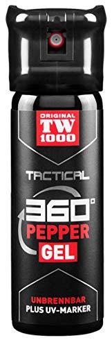 KOSxBO® Original Behörden Pfefferspray TW1000 Tactical Pepper Gel Classic 45ml - Pfeffergel klebend mit UV-Marker - Selbstverteidigung - Tierabwehr