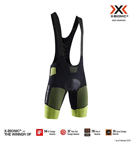 fc3c4767d055 X-Bionic C/Tirantes Effektor G2 Bike Culotte, Hombre, Negro, M
