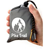 Pike Trail Pocket Size Picnic/Beach Outdoor Blanket Gray/Orange