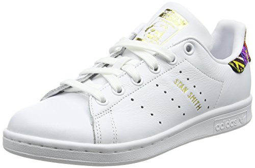 adidas Stan Smith, Baskets Femme, Blanc (Footwear White/Footwear White/Footwear White 0), 37 1/3 EU