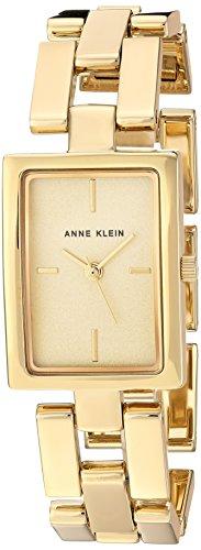 Anne Klein orologio al quarzo in metallo e lega abito da donna, colore: gold-toned (Model: AK/2638CHGB)