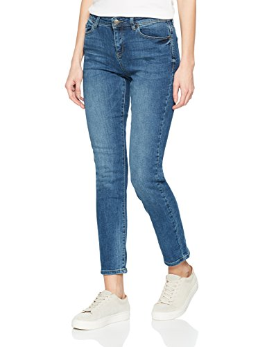 ESPRIT Damen Straight Jeans 997EE1B812, Blau (Blue Medium Wash 902), 29/34 (Basic Five-pocket-jeans)