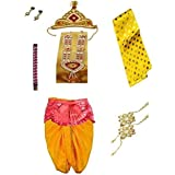 Fancy Steps Krishna In Krishnaleela/Janmashtami/Kanha/Mythological Character Fancy Dress Costumes For Kids (4-6 Years)
