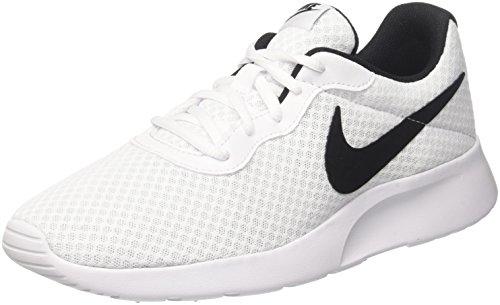 Nike tanjun, scarpe da ginnastica basse uomo, bianco (white/black 101), 43 eu