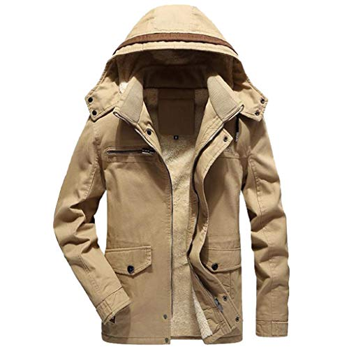 Luckycat Herren Winter Warme Jacke Mantel Outwear Slim Lange Trenchknöpfe Reißverschluss Mantel Mode 2018